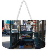 Self At Subway Stairs Weekender Tote Bag