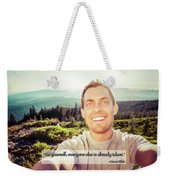 Self Portrait From A Mountain Top Weekender Tote Bag