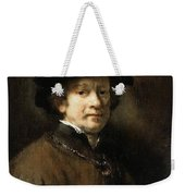Self Portrait With Cap And Gold Chain Rembrandt Harmenszoon Van Rijn Weekender Tote Bag