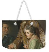 Self-portrait With His Wife Marie-suzanne Giroust Weekender Tote Bag