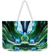 Self Reflection - Blue Green Weekender Tote Bag