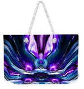 Self Reflection - Purple Blue Weekender Tote Bag
