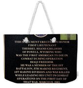 Semper Fi To The 1st Man Down In Iraqi Freedom Plaque Weekender Tote Bag