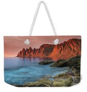 Senja Red Weekender Tote Bag