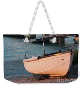 Sennen Cove Boat At Sunset Weekender Tote Bag