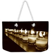 Sepia Candles Weekender Tote Bag