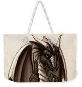 Sepia Dragon Weekender Tote Bag