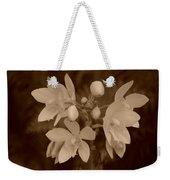 Sepia Flower Weekender Tote Bag