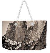 Sepia Half Dome Weekender Tote Bag