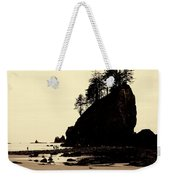 Sepia High Contrast Rialto Beach Weekender Tote Bag