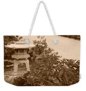 Sepia Japanese Garden Weekender Tote Bag
