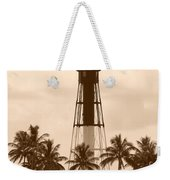 Sepia Light House  Weekender Tote Bag