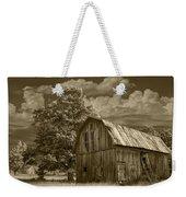 Sepia Michigan Barn Landscape Weekender Tote Bag