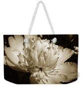 Sepia Peony Flower Art Weekender Tote Bag