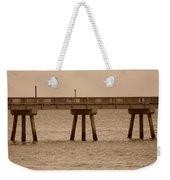 Sepia Pier Weekender Tote Bag