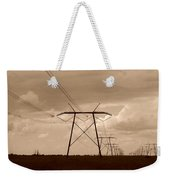 Sepia Power Weekender Tote Bag