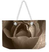 Sepia Rose Weekender Tote Bag