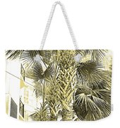 Sepia Toned Pen And Ink Palm Trees Weekender Tote Bag