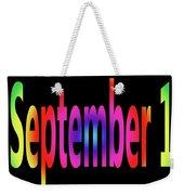 September 1 Weekender Tote Bag
