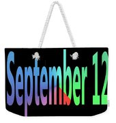 September 12 Weekender Tote Bag