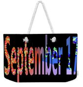 September 17 Weekender Tote Bag