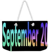 September 20 Weekender Tote Bag