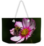 September Bee On Cosmos Weekender Tote Bag