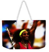 Serena Williams Another Record Set Weekender Tote Bag