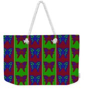 Serendipity Butterflies Blueredgreen 14of15 Weekender Tote Bag