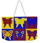 Serendipity Butterflies Brickgoldblue 1 Weekender Tote Bag