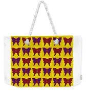 Serendipity Butterflies Brickgoldblue 26 Weekender Tote Bag