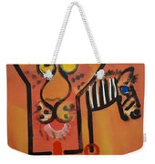 Serengeti Cat Weekender Tote Bag