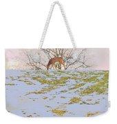 Serenity In The Spring Snow Weekender Tote Bag