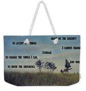 Serenity Prayer Field Weekender Tote Bag