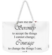 Serenity Prayer Weekender Tote Bag