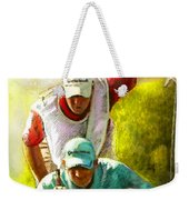 Sergio Garcia In The Madrid Masters Weekender Tote Bag