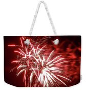 Series Of Red And White Fireworks Weekender Tote Bag