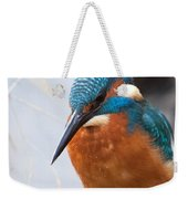 Serious Kingfisher Weekender Tote Bag