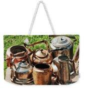 Set Of Ancient Teapots  Weekender Tote Bag