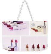 Set Of Lipsticks For Woman Beauty Weekender Tote Bag