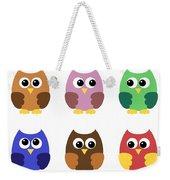 Set Of Six Little Owlets Weekender Tote Bag
