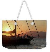 Set Sail On The Aegean At Sunset Weekender Tote Bag