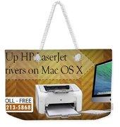 Set Up Hp Laserjet 1020 Drivers On Mac Os X Weekender Tote Bag
