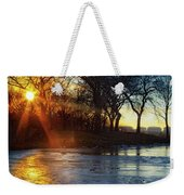 Setting On Thin Ice Weekender Tote Bag