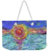 Setting Sun, Stars And Water Weekender Tote Bag