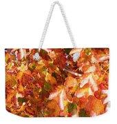 Seurat-like Fall Leaves Weekender Tote Bag