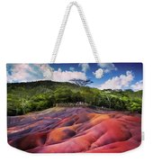 Seven Colored Earth In Chamarel. Mauritius Weekender Tote Bag
