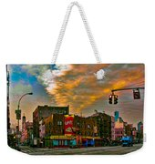 Seventh And Bleeker At Sunrise Nyc Weekender Tote Bag