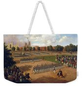 Seventh Regiment On Review. Washington Square. New York Weekender Tote Bag