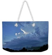 Severe Weather And Waxing Crescent Moon Weekender Tote Bag